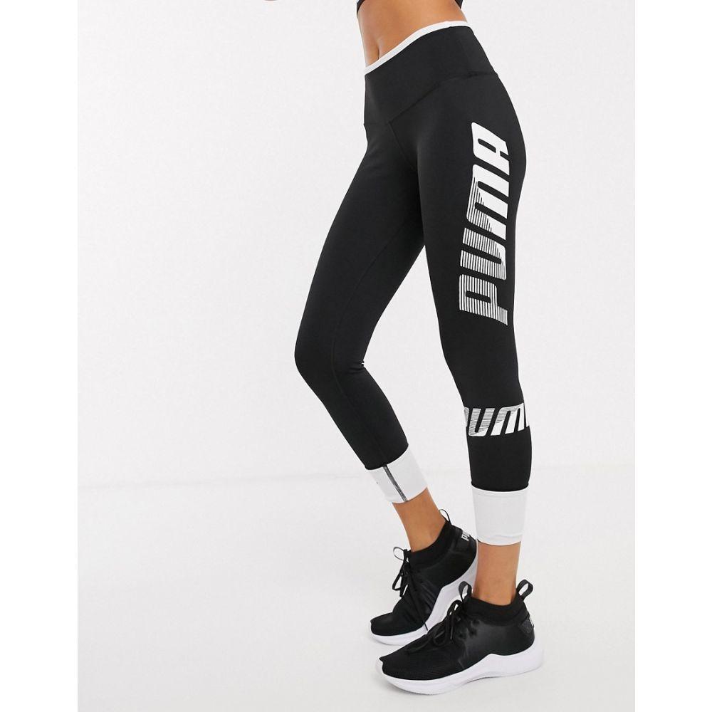 プーマ Puma レディース スパッツ・レギンス インナー・下着【modern sport turn up leggings in black and white】Puma black