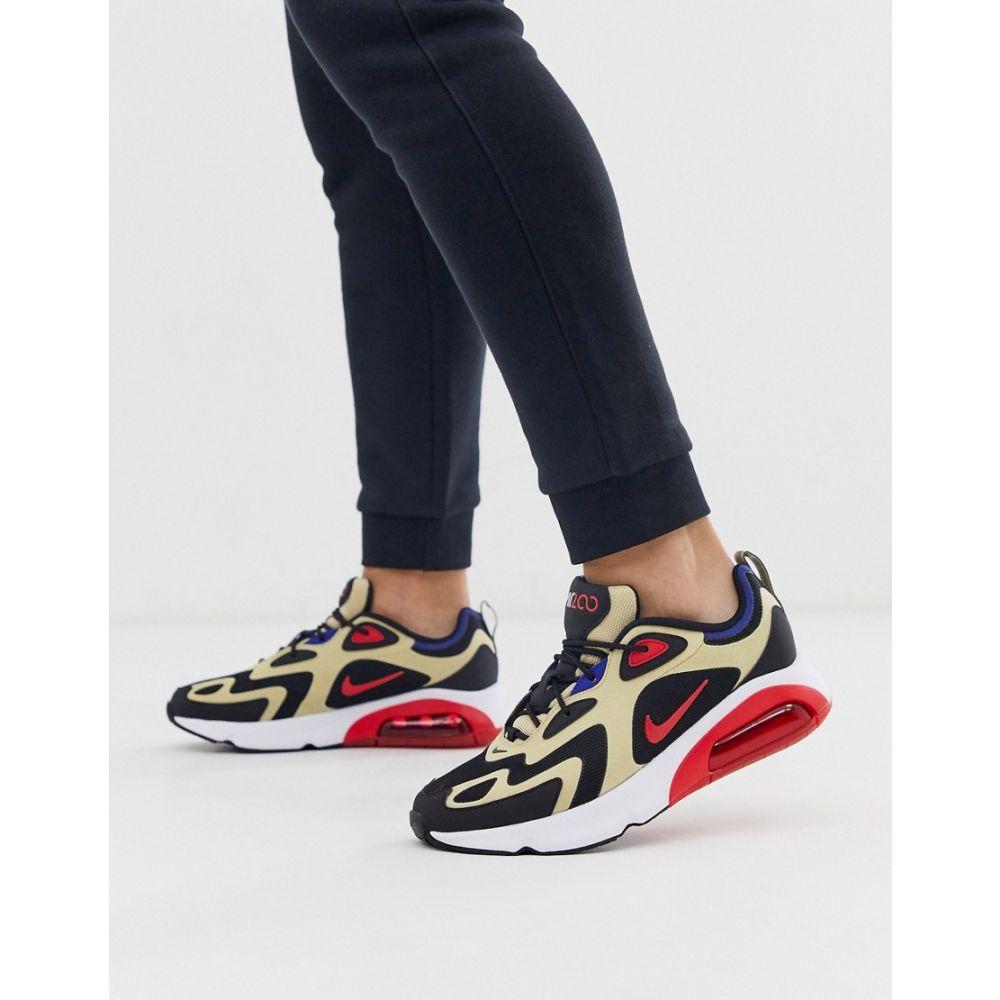 ナイキ Nike メンズ スニーカー シューズ・靴【Air Max 200 trainers in black and beige】Black