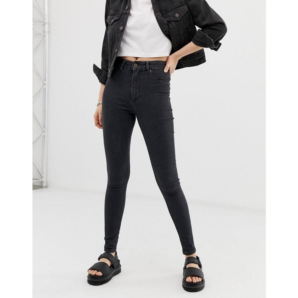 チープマンデー Cheap Monday レディース ジーンズ・デニム ボトムス・パンツ【High Spray skinny jeans】Black