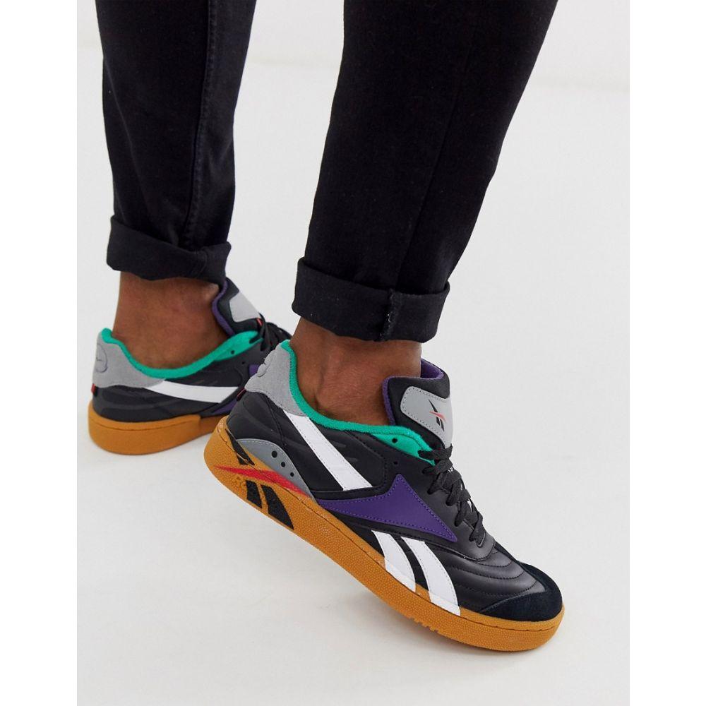 リーボック Reebok メンズ スニーカー シューズ・靴【classic club c recrafted trainers in black with gum sole】Black