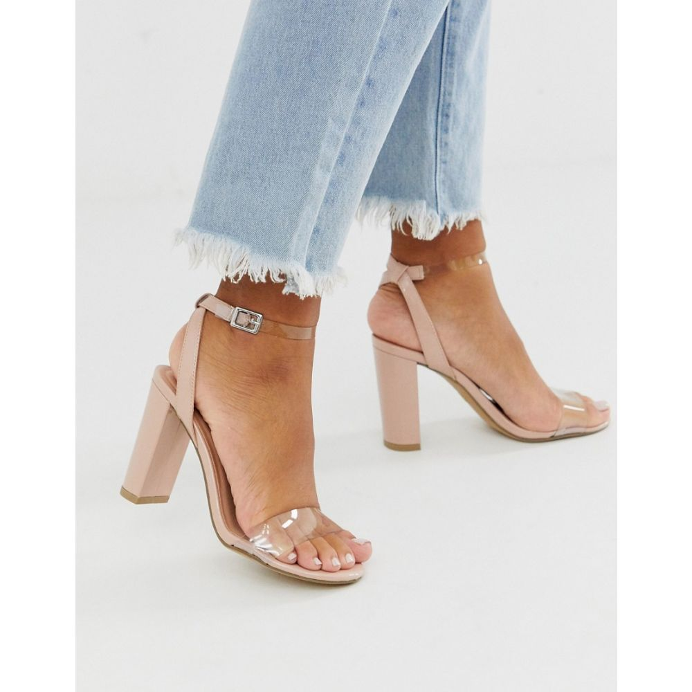 ニュールック New Look レディース サンダル・ミュール シューズ・靴【heeled sandals with clear detail in beige】Tan