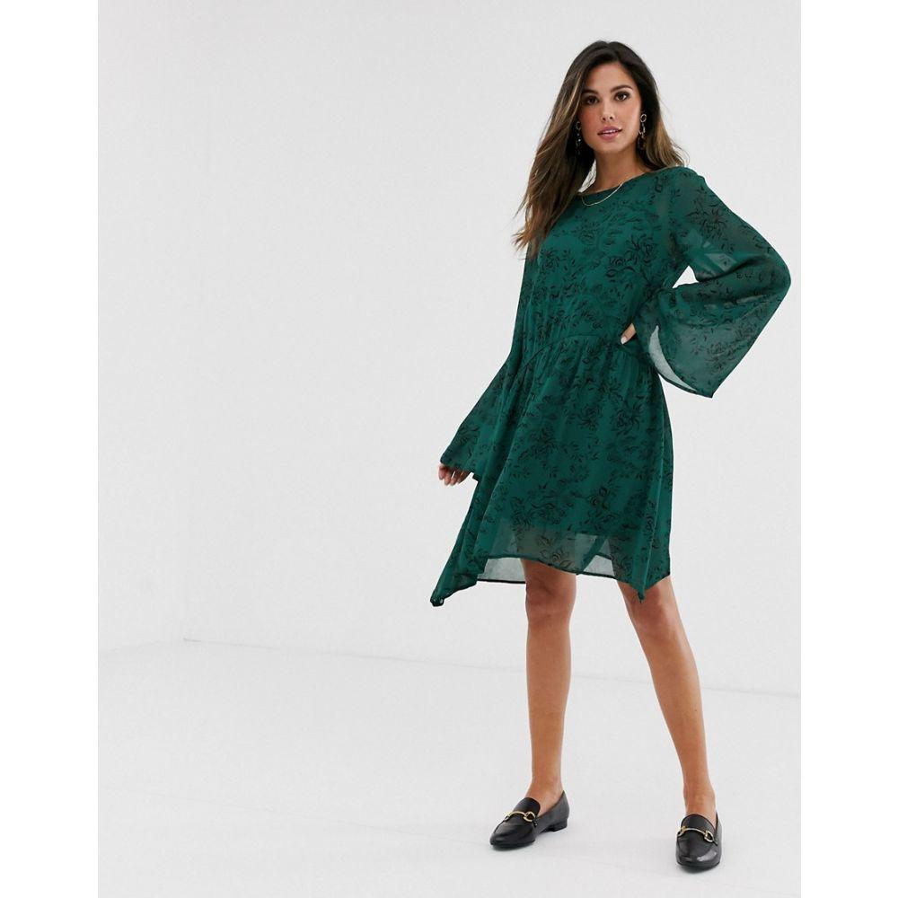 ヴィラ Vila レディース ワンピース ワンピース・ドレス【floral smock dress】Garden topiary