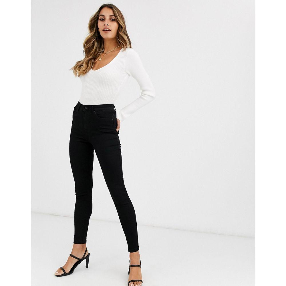 ヴェロモーダ Vero Moda レディース ジーンズ・デニム ボトムス・パンツ【skinny high rise jeans in black】Black