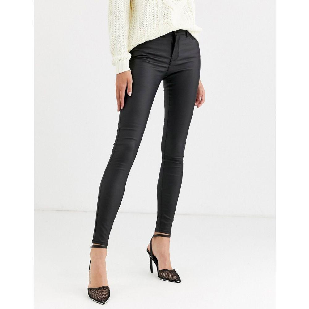 ヴェロモーダ Vero Moda レディース ジーンズ・デニム ボトムス・パンツ【coated skinny jeans in black】Black