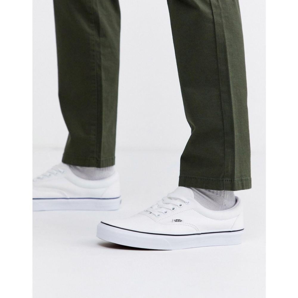 ヴァンズ Vans メンズ スニーカー シューズ・靴【Era true trainers in white】White