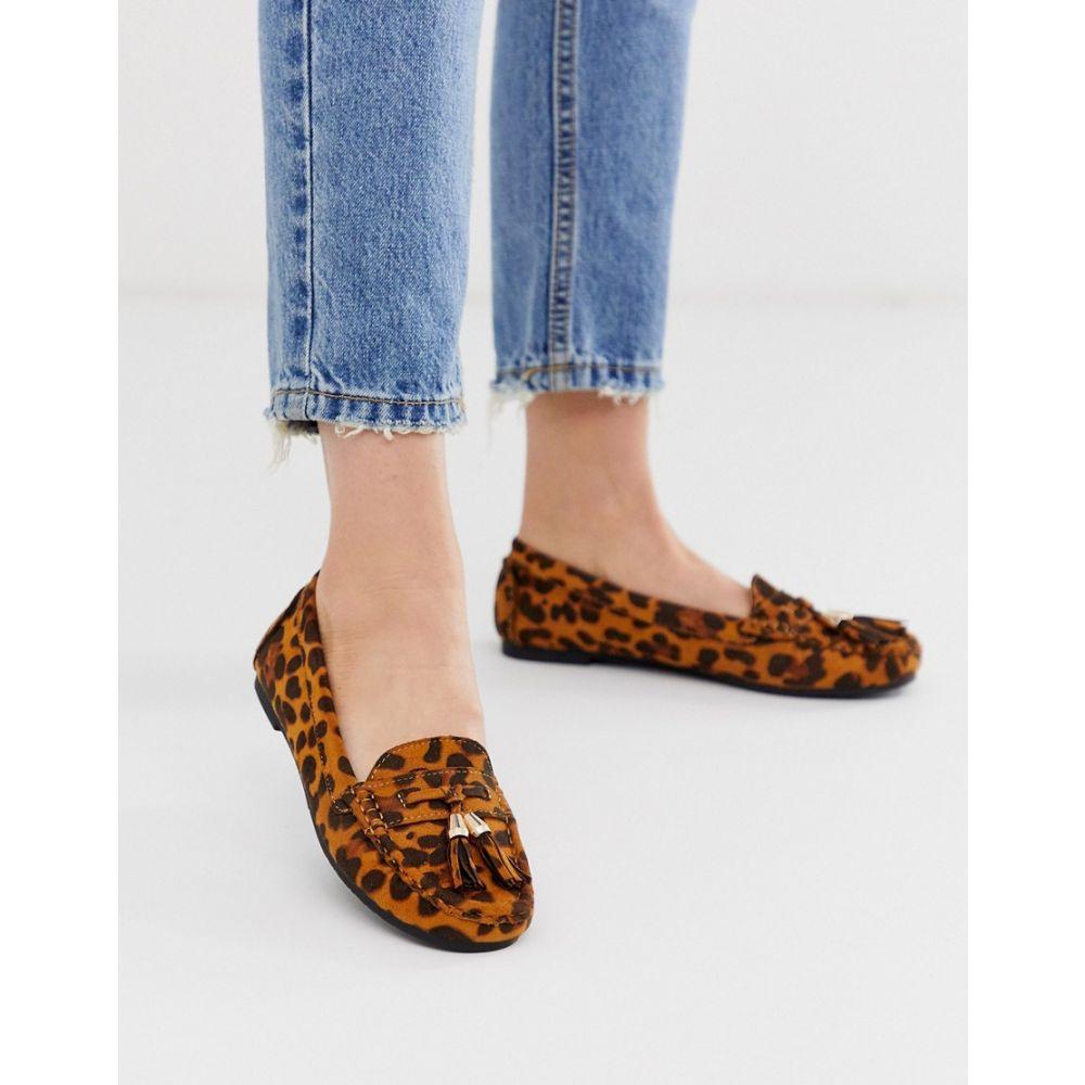 トリュフコレクション Truffle Collection レディース ローファー・オックスフォード シューズ・靴【flat tassel loafers in leopard】Leopard micro