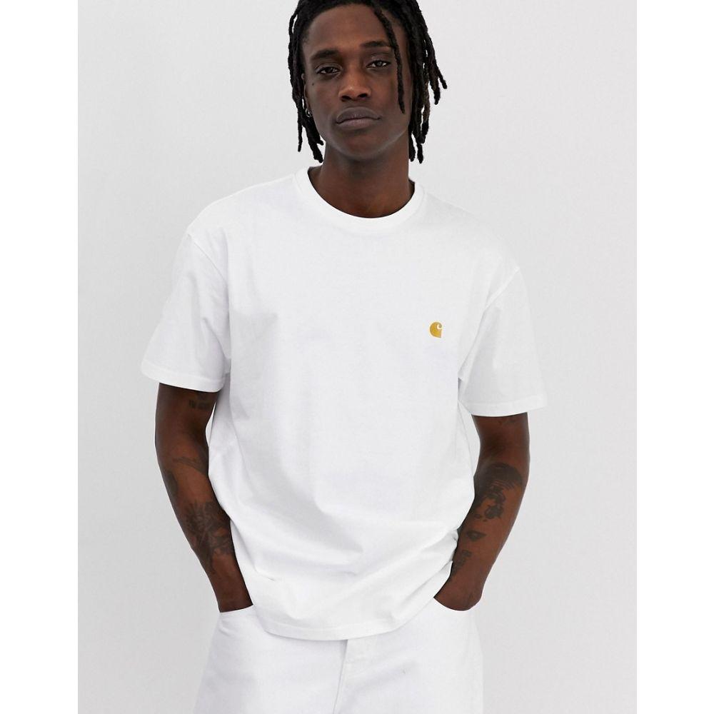 カーハート Carhartt WIP メンズ Tシャツ トップス【Chase t-shirt in white】White