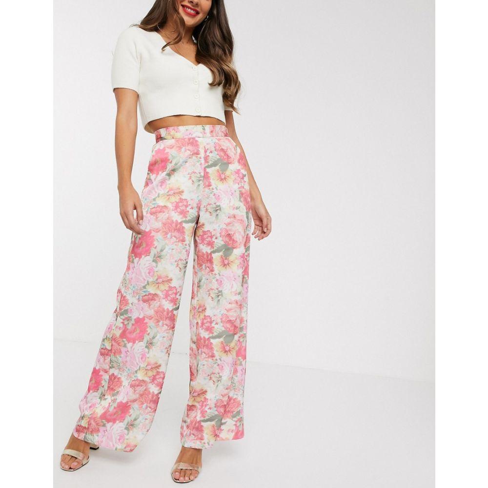 エイソス ASOS DESIGN レディース ボトムス・パンツ ワイドパンツ【wide leg trouser in blurred floral print】Floral