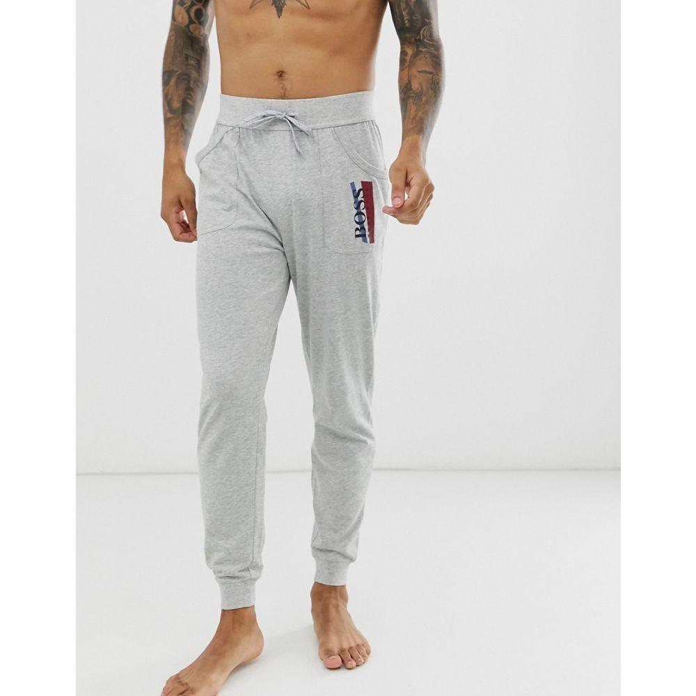 ヒューゴ ボス BOSS メンズ ジョガーパンツ ボトムス・パンツ【bodywear Authentic cuffed joggers in grey】Grey