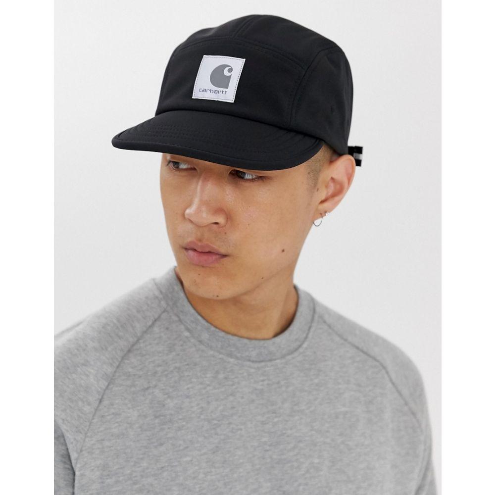 カーハート メンズ 帽子 キャップ Black 【サイズ交換無料】 カーハート Carhartt WIP メンズ キャップ ソフトシェル 帽子【Softshell cap in black】Black