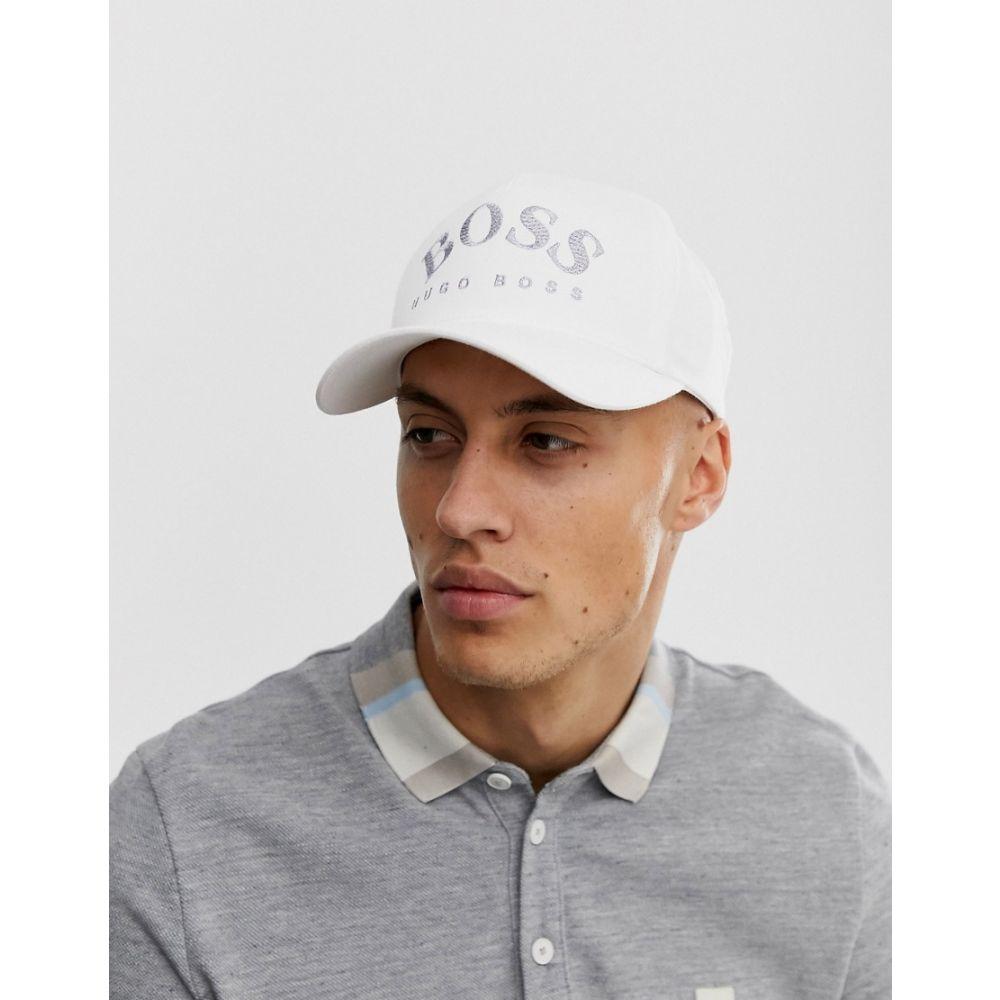 ヒューゴ ボス メンズ 帽子 キャップ White 【サイズ交換無料】 ヒューゴ ボス BOSS メンズ キャップ 帽子【embroidered logo cap in white and grey】White