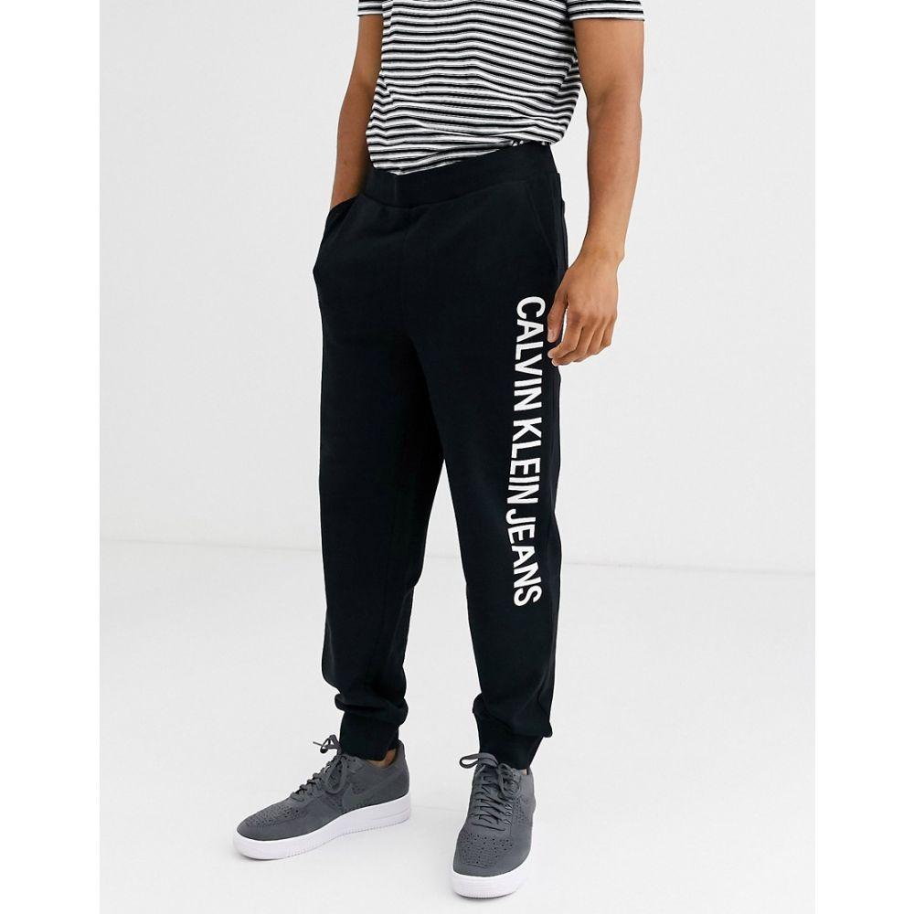カルバンクライン Calvin Klein Jeans メンズ ジョガーパンツ ボトムス・パンツ【institutional side logo joggers】Black