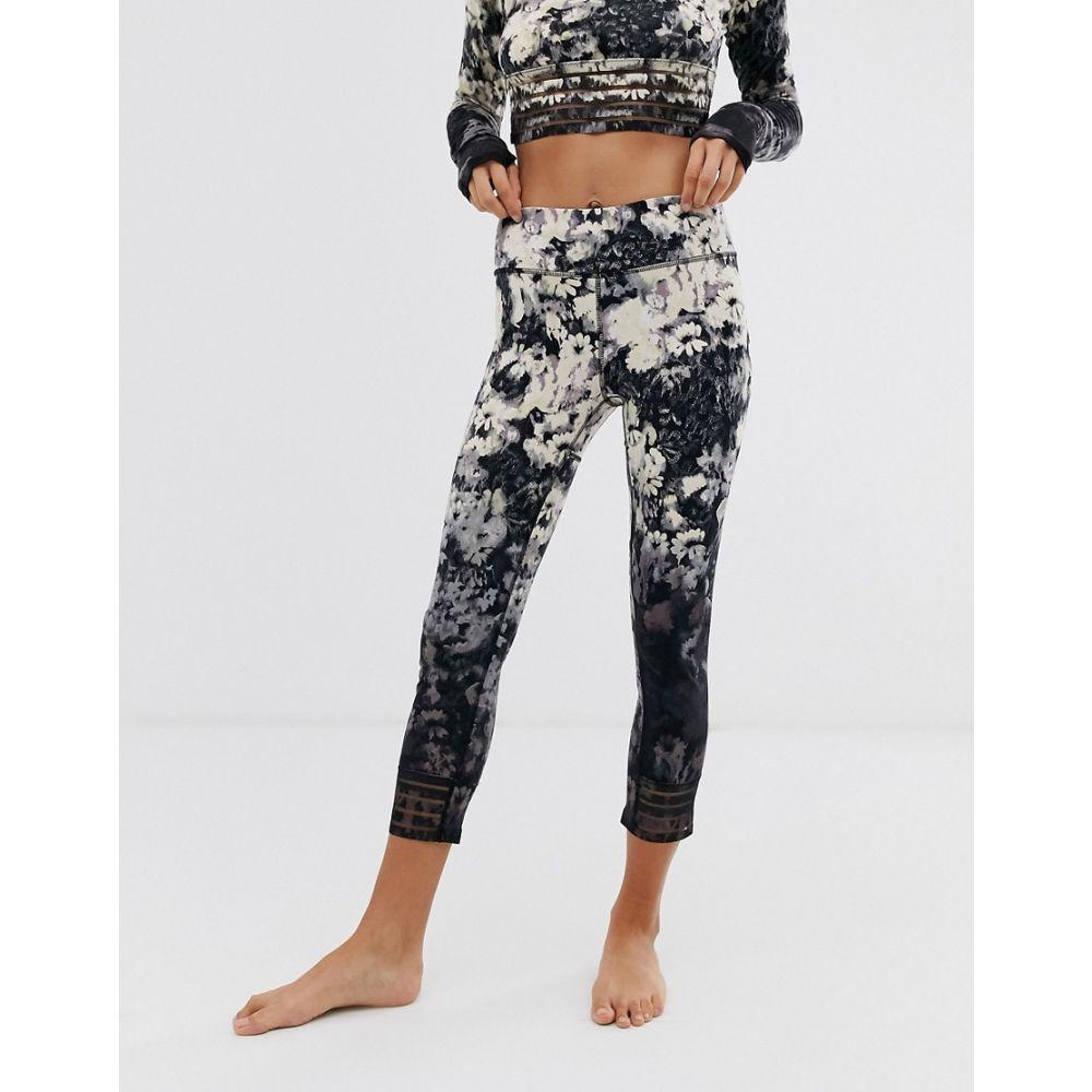 フリーピープル Free People Movement レディース スパッツ・レギンス インナー・下着【Idris floral leggings】Blk/white combo