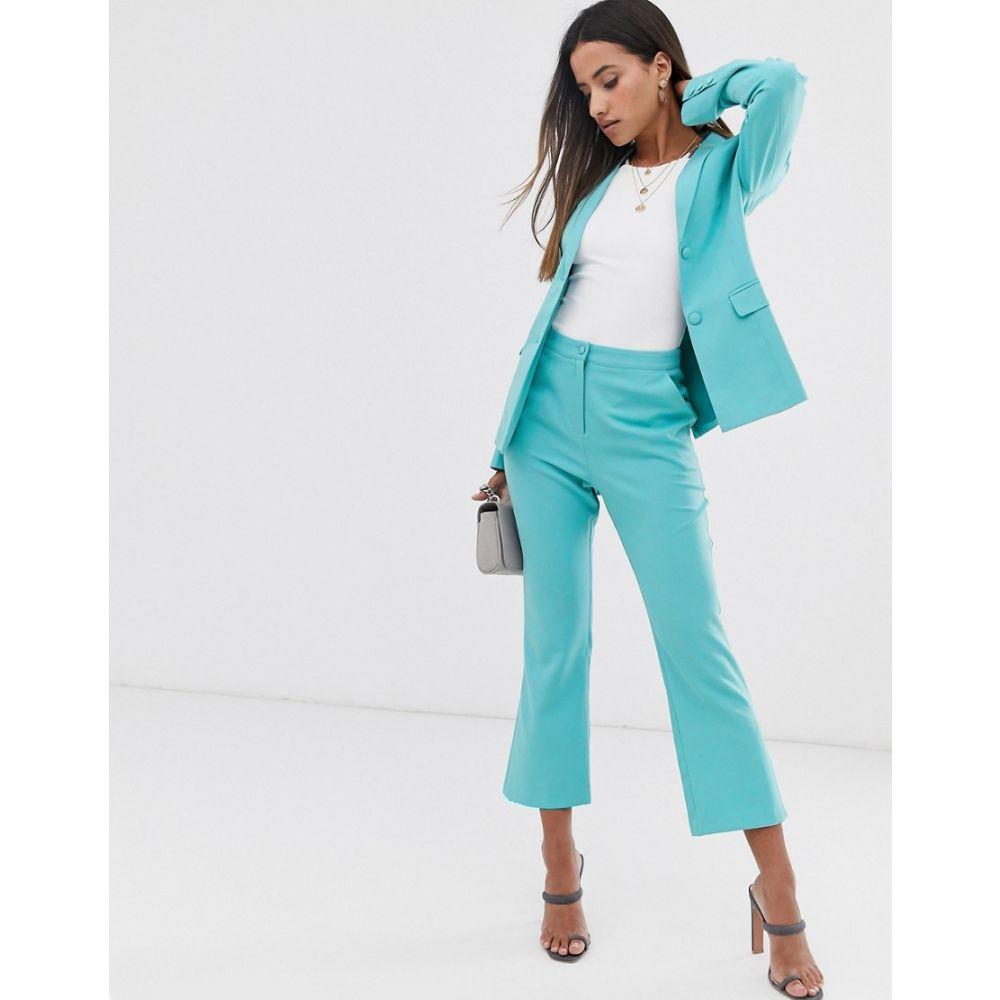 ファッションユニオン Fashion Union レディース ボトムス・パンツ 【straight leg trouser co-ord】Turquoise