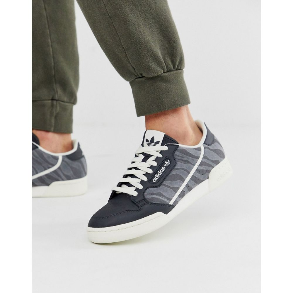 アディダス adidas Originals メンズ スニーカー シューズ・靴【continental 80's in grey with tiger print】Grey