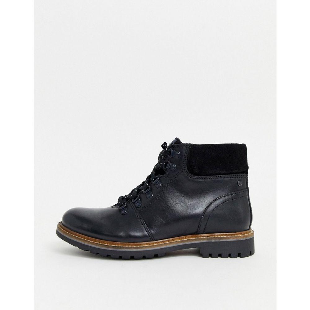 ベース ロンドン Base London メンズ ブーツ レースアップブーツ シューズ・靴【fawn lace up hiker boots in black】Black