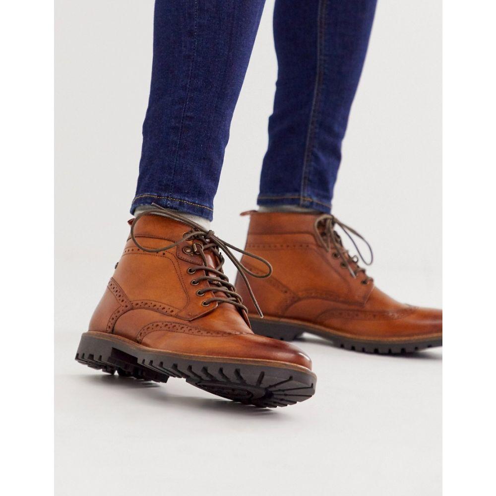 ベース ロンドン Base London メンズ ブーツ メダリオン シューズ・靴【bower brogue boots in tan】Tan