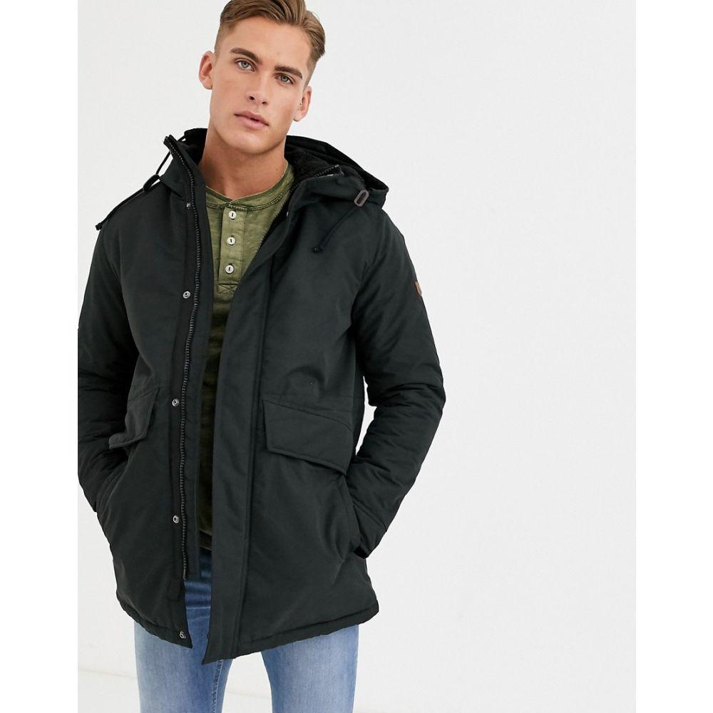 ジャック アンド ジョーンズ Jack & Jones メンズ ジャケット アウター【premium hooded parker jacket in black】Black