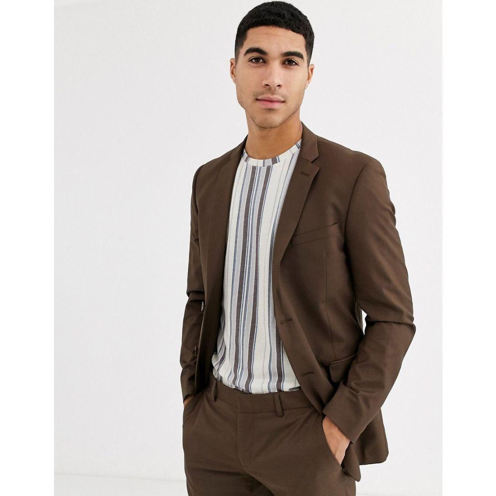 エスプリ Esprit メンズ スーツ・ジャケット アウター【slim fit suit jacket in tan】Tan