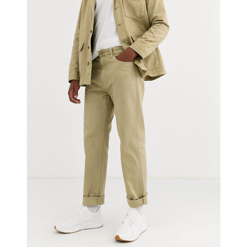 M.C. オーバーオールズ M.C. Overalls メンズ ジーンズ・デニム ボトムス・パンツ【m.c.overalls heavy denim work trousers in khaki】Khaki