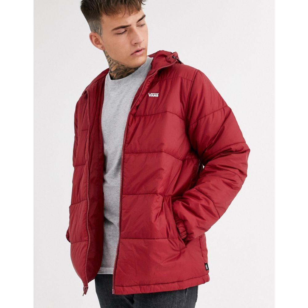 ヴァンズ Vans メンズ ダウン・中綿ジャケット アウター【small logo puffer jacket in burgundy】Red