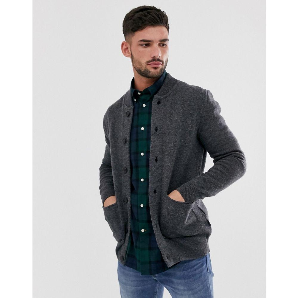 バブアー Barbour メンズ ジャケット アウター【witton knitted button up jacket in grey】Grey