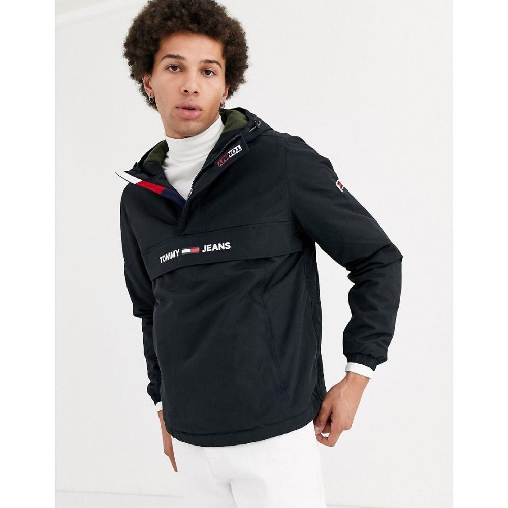 トミー ジーンズ Tommy Jeans メンズ ダウン・中綿ジャケット アウター【padded overhead jacket in black with small chest logo】Tommy black