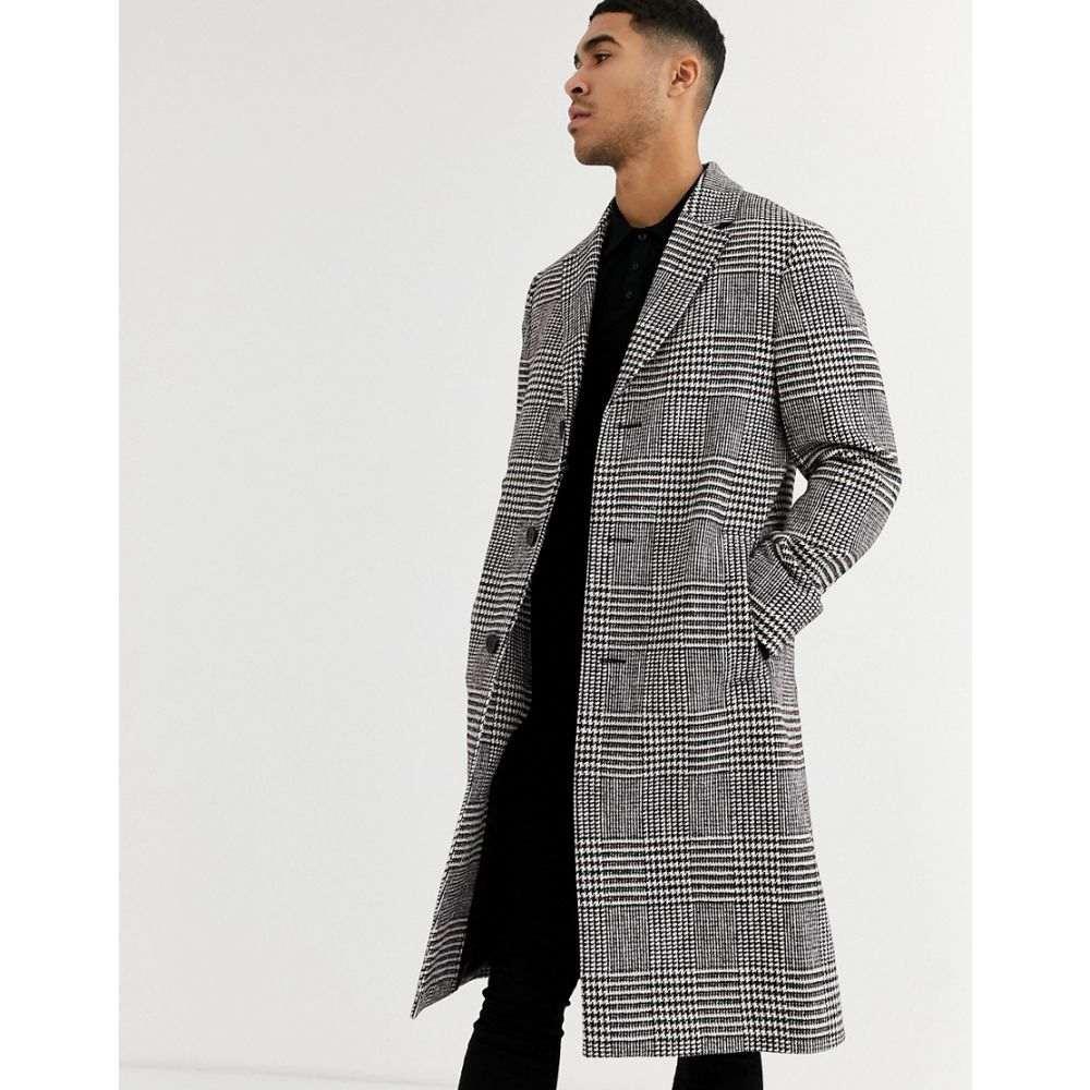 カルバンクライン Calvin Klein メンズ コート ロングコート アウター【glencheck long coat】Red