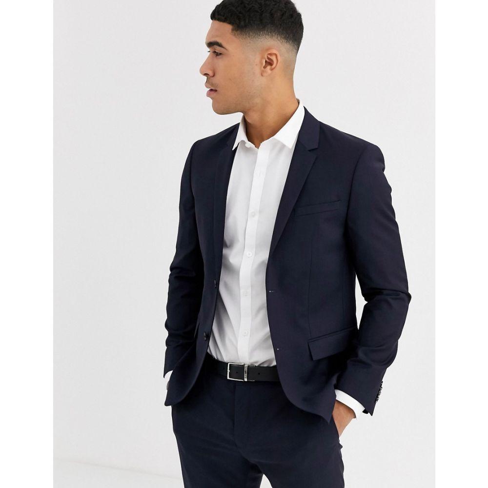 カルバンクライン Calvin Klein メンズ スーツ・ジャケット アウター【refined wool navy suit jacket】Navy