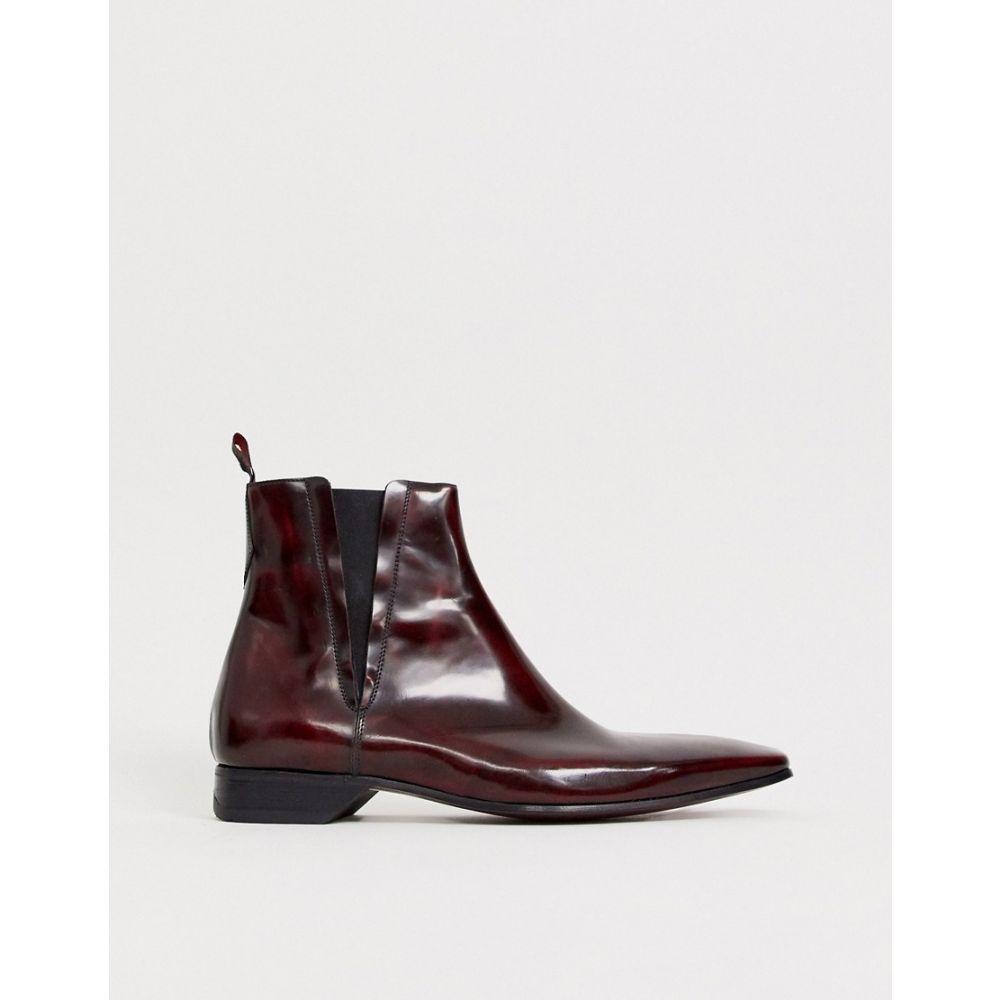 ジェフリー ウエスト Jeffery West メンズ ブーツ チェルシーブーツ シューズ・靴【escobar chelsea boot in red high shine leather】Red