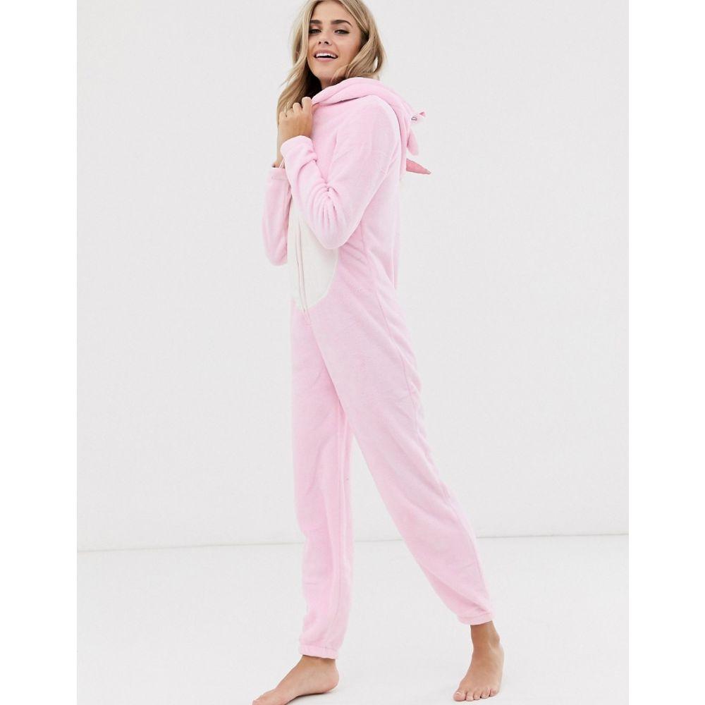 ラウンジャブル Loungeable レディース オールインワン ワンピース・ドレス【pink unicorn fleece onesie】Pink