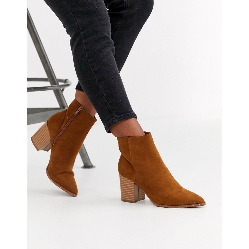 ニュールック New Look レディース ブーツ シューズ・靴【studded rand pointed boot in tan】Tan