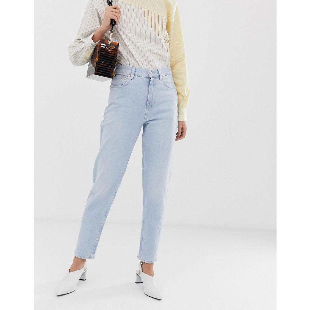 マンゴ Mango レディース ジーンズ・デニム ボトムス・パンツ【mom jeans in light blue】Blue