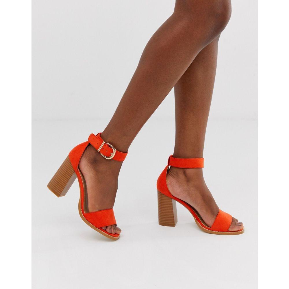 レイド Raid レディース サンダル・ミュール シューズ・靴【fleur orange stacked block heeled sandals】Orange suede