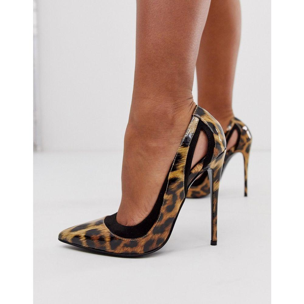 エイソス ASOS DESIGN レディース パンプス ピンヒール シューズ・靴【peaky stiletto court shoes in leopard】Leopard drench