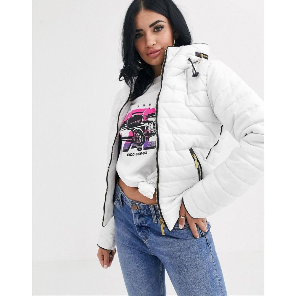 プリティリトルシング PrettyLittleThing レディース ダウン・中綿ジャケット アウター【padded jacket in white】White