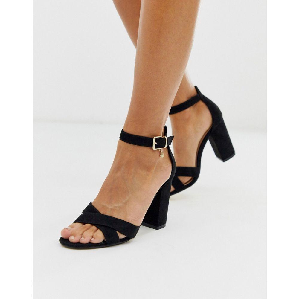 オフィス Office レディース サンダル・ミュール シューズ・靴【holborn cross vamp block heel sandals in black】Black
