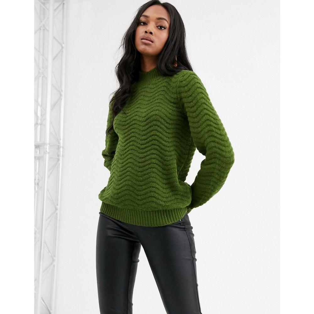 ワイ エー エス レディース トップス ニット・セーター Green 【サイズ交換無料】 ワイ エー エス Y.A.S レディース ニット・セーター トップス【textured high neck knitted jumper】Green