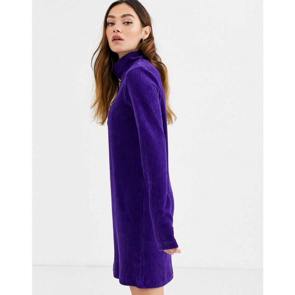 ウィークデイ Weekday レディース ワンピース ワンピース・ドレス【lova dress in dark purple】Dark purple