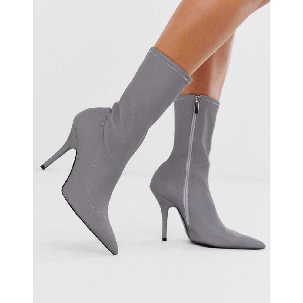 エイソス ASOS DESIGN レディース ブーツ シューズ・靴【evie sock boots in reflective】Reflective