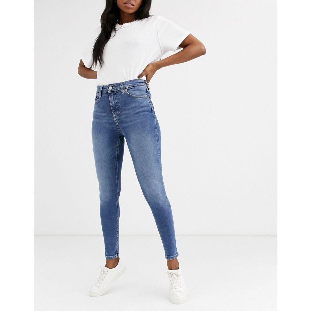 トップショップ Topshop レディース ジーンズ・デニム ボトムス・パンツ【jamie skinny jeans in mid wash】Mid denim