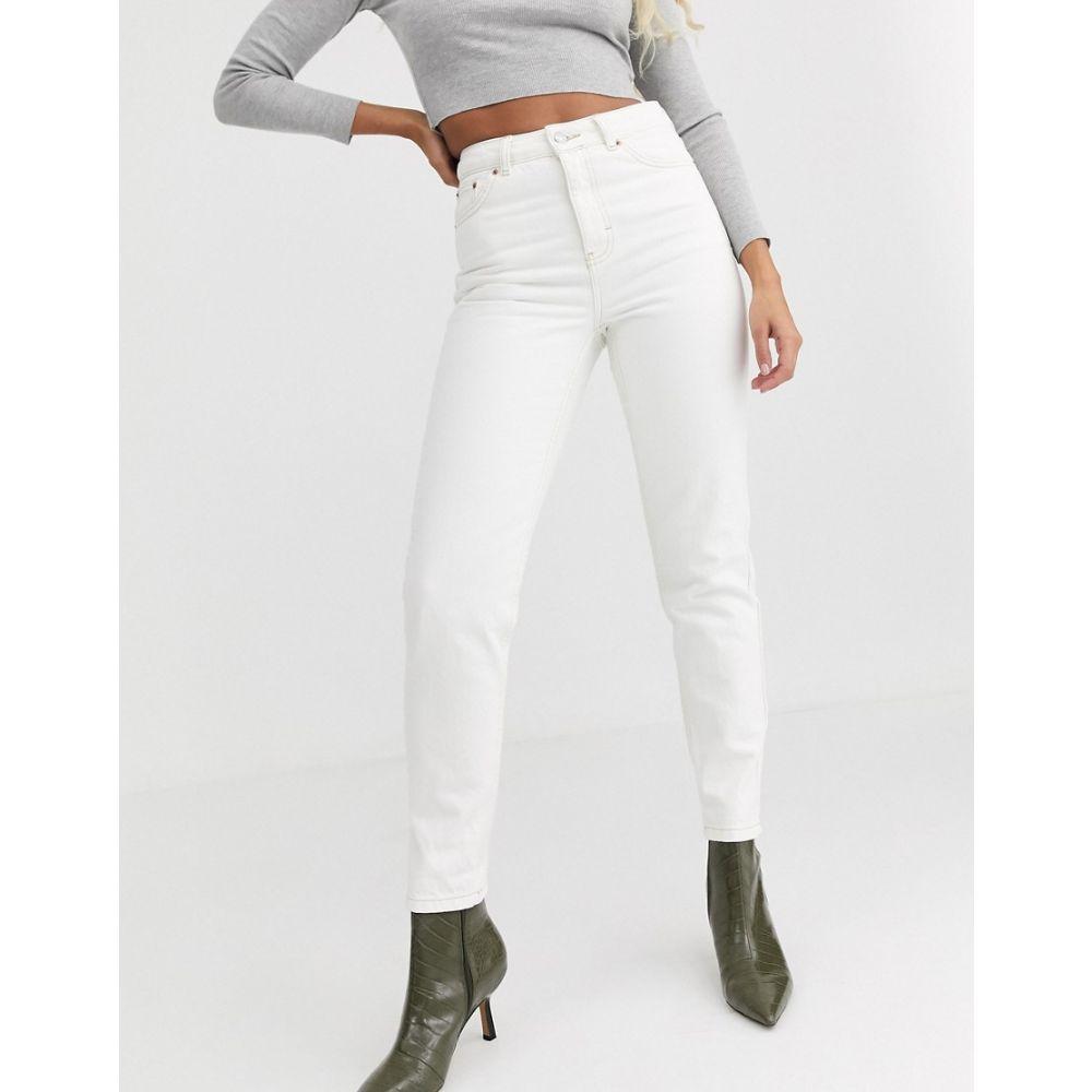 トップショップ Topshop レディース ジーンズ・デニム ボトムス・パンツ【mom jeans in off white】Off white