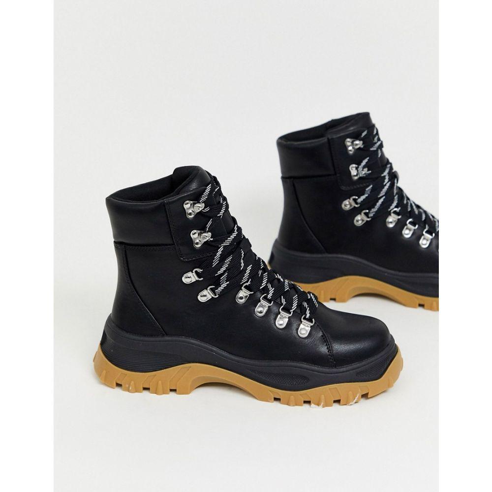 モンキー Monki レディース ハイキング・登山 ブーツ シューズ・靴【high top hiking boots in black】Black