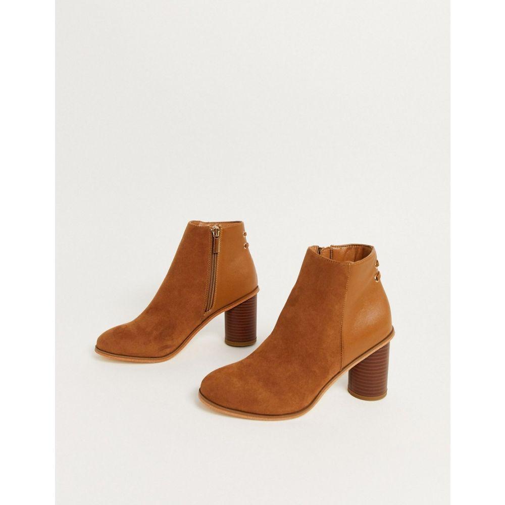 オアシス Oasis レディース ブーツ ショートブーツ シューズ・靴【heeled ankle boots in tan suede】Tan