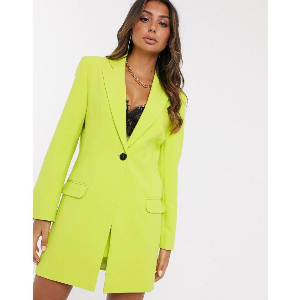 エイソス ASOS DESIGN レディース スーツ・ジャケット ロング丈 アウター【longline suit blazer in chartreuse】Chartreuse
