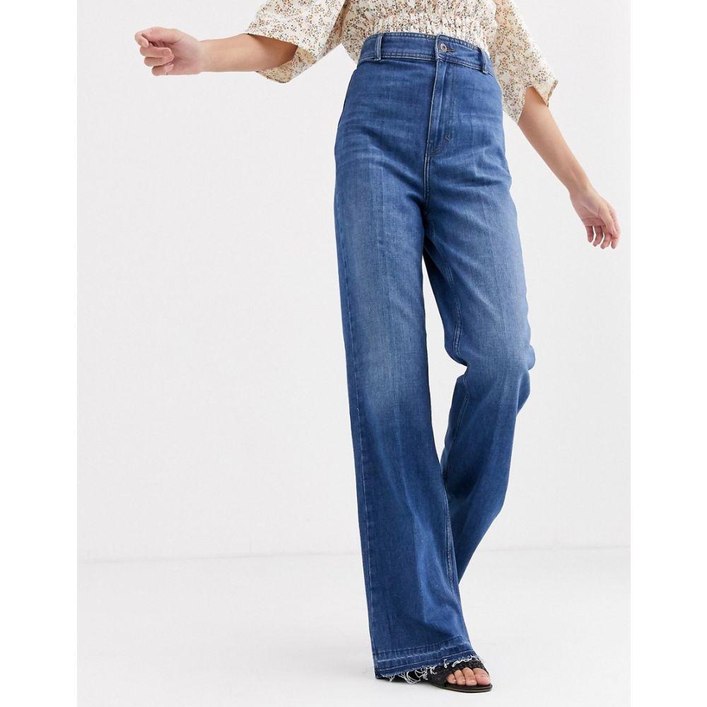 フリーピープル Free People レディース ジーンズ・デニム ボトムス・パンツ【mindy rigid flared jeans】Indigo blue