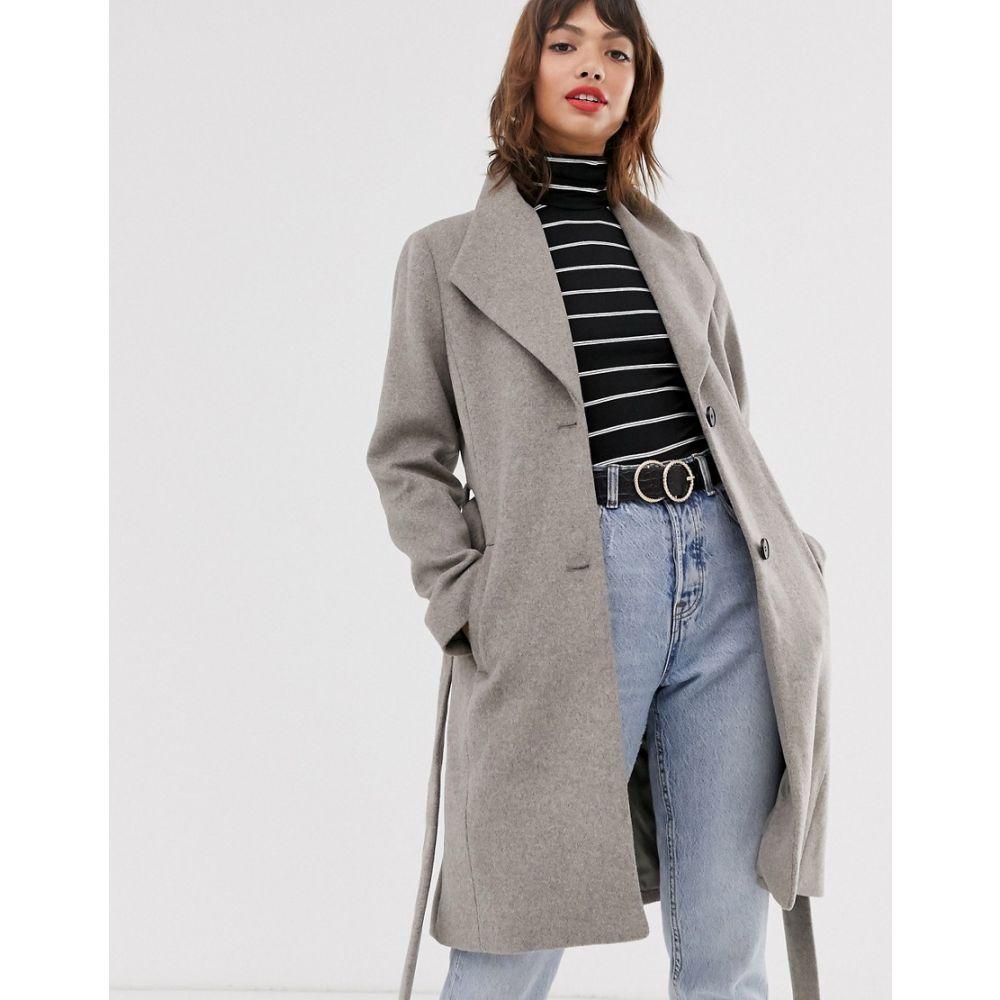エスプリ Esprit レディース コート ラップコート アウター【wrap coat with collar in grey】Taupe