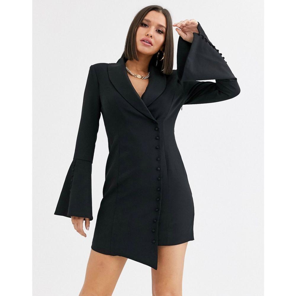 ラヴィッシュアリス Lavish Alice レディース ワンピース ミニ丈 ワンピース・ドレス【button detail blazer mini dress in black】Black