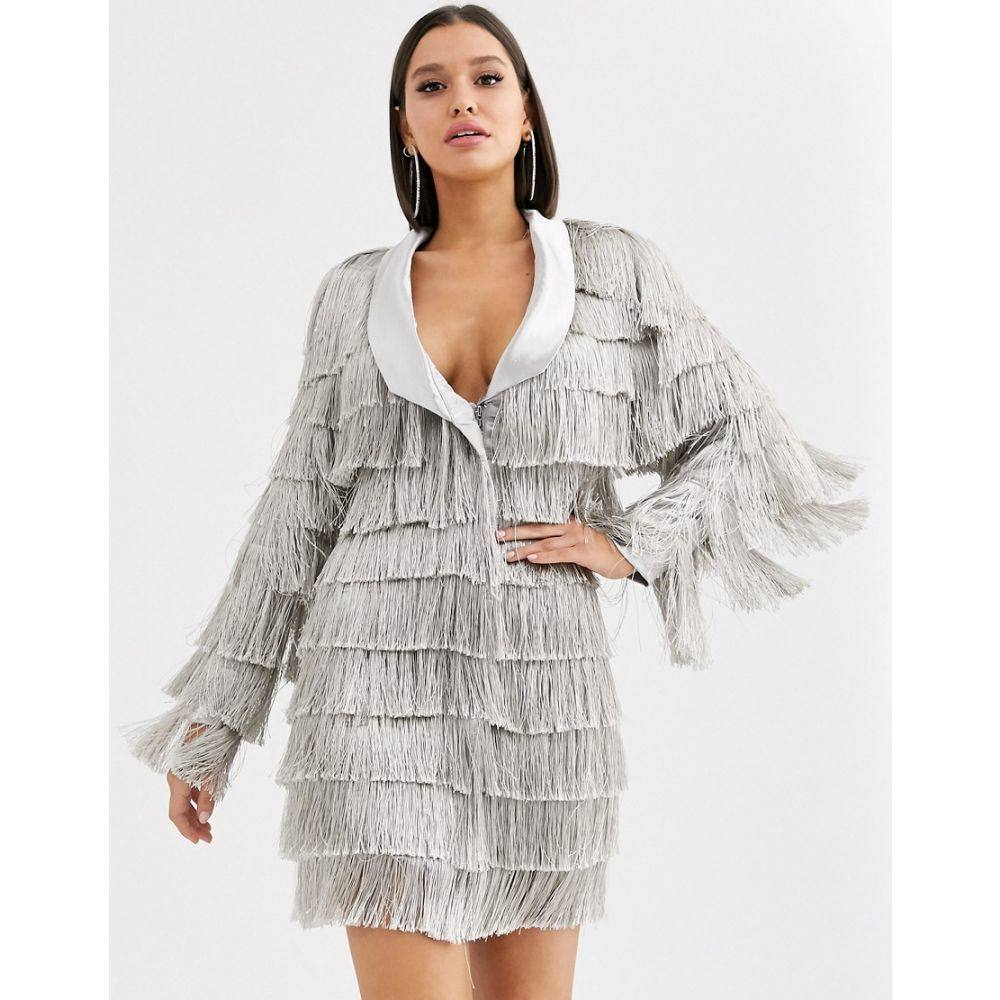 ラヴィッシュアリス Lavish Alice レディース ワンピース ブレザードレス ワンピース・ドレス【fringe blazer dress in metallic silver】Metallic silver