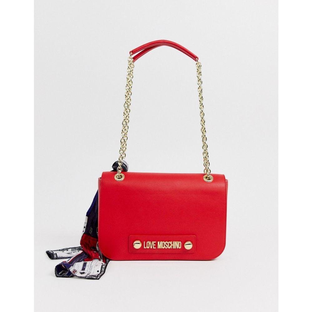 モスキーノ Love Moschino レディース ショルダーバッグ バッグ【logo shoulder bag with scarf】Red